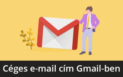 Céges e-mail cím használata Gmail-lel